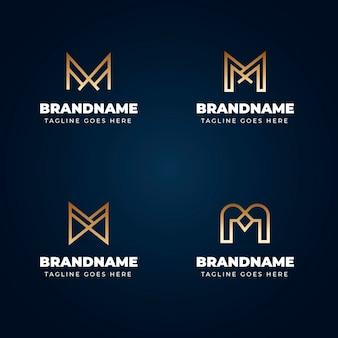 Gradient m logo-vorlagen-sammlung