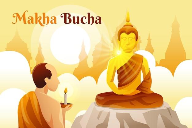 Gradient makha bucha tag
