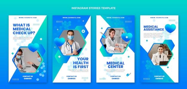 Gradient medizinische instagram-geschichten