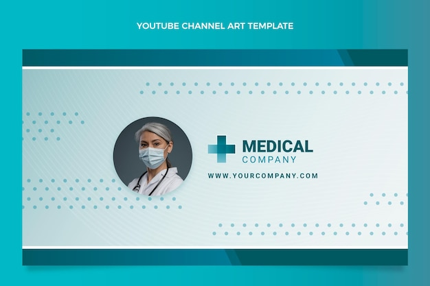 Gradient medizinische youtube-kanalkunst