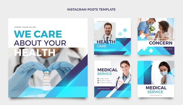 Gradient medizinischer instagram-post