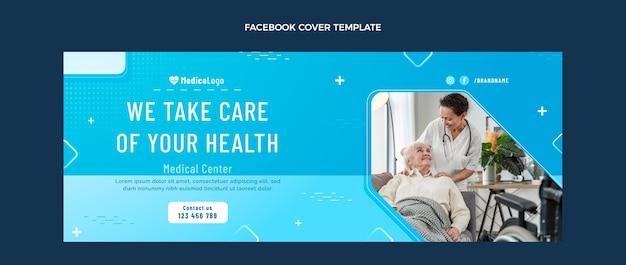 Gradient medizinisches facebook-cover