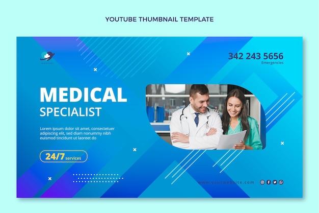 Gradient medizinisches youtube-thumbnail