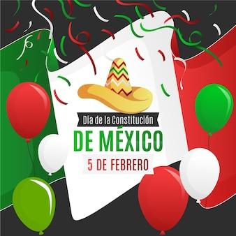 Gradient mexiko verfassungstag