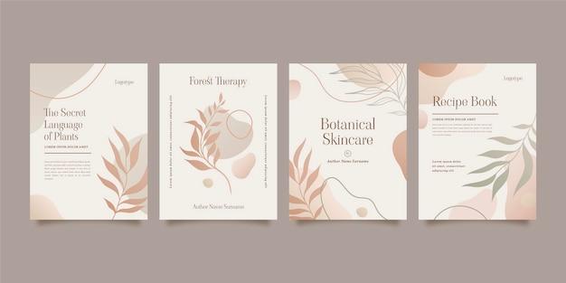 Gradient minimale handgezeichnete cover-kollektion