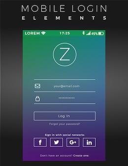Gradient mobile login vorlage