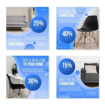 Gradient möbel verkauf instagram post sammlung