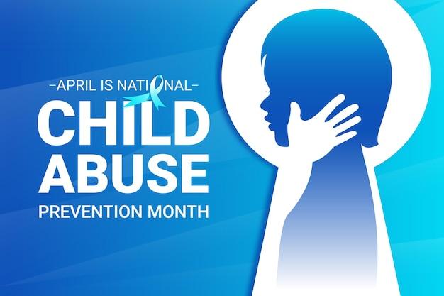 Gradient nationale abbildung des monats zur verhinderung von kindesmissbrauch