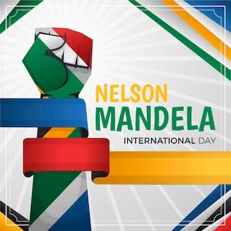 Gradient nelson mandela international day illustration