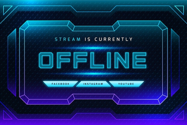 Gradient neon offline zucken banner