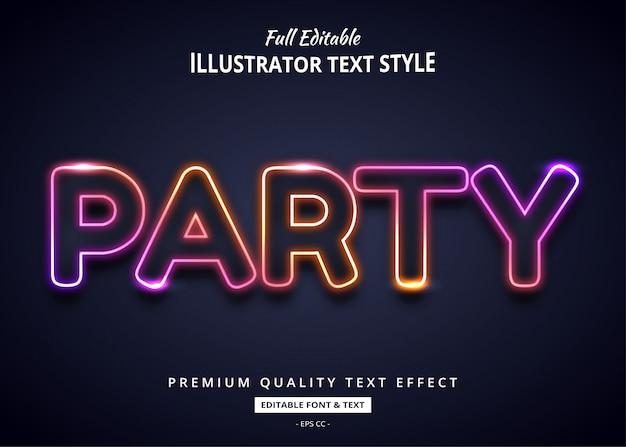 Gradient neon text effekt