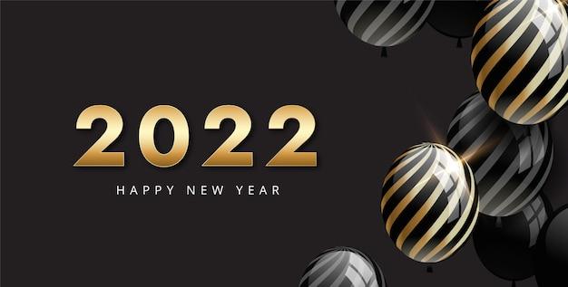 Gradient neujahrsillustration