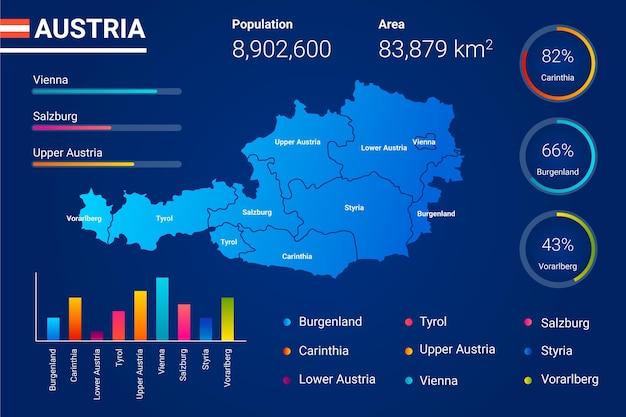 Gradient österreich karte infografik