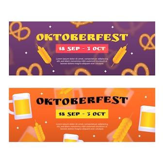 Gradient oktoberfest horizontale banner eingestellt