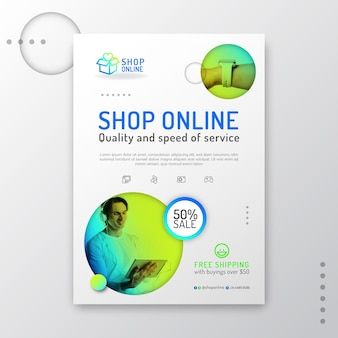 Gradient online-shopping-flyer