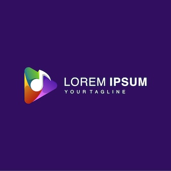 Gradient play-tasten-logo