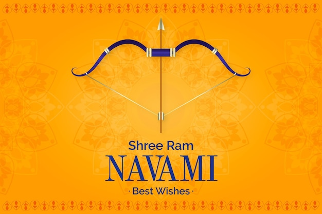 Gradient ram navami illustration