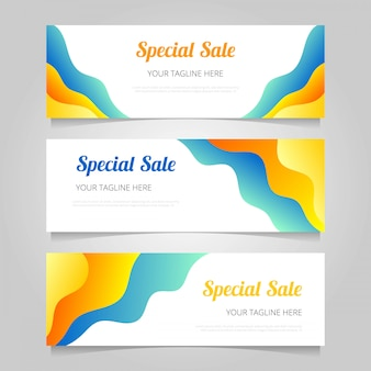 Gradient sale banners template