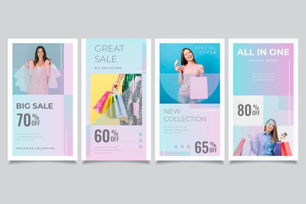 Gradient sales instagram geschichten gesetzt
