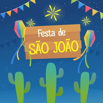 Gradient sao joao illustration