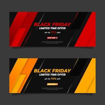 Gradient schwarzer freitag banner vorlage