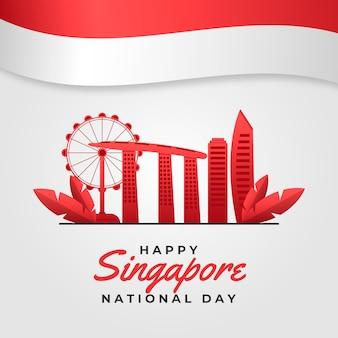 Gradient singapur nationalfeiertag illustration