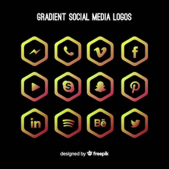 Gradient-social-media-logo collectio