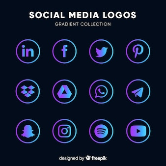 Gradient-social-media-logos