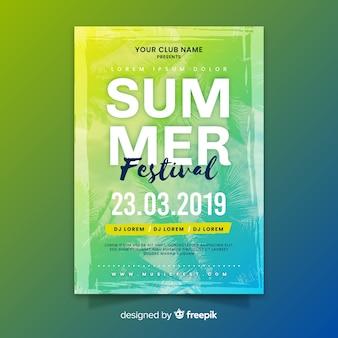 Gradient sommer musik festival poster
