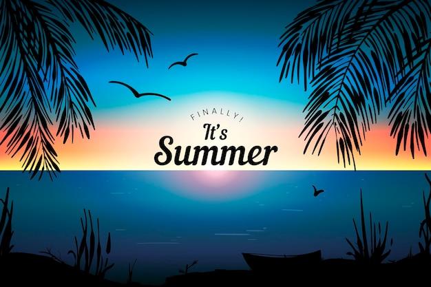 Gradient sommerhintergrund