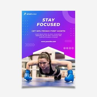 Gradient sport flyer vorlage