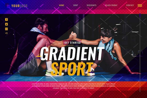 Gradient sport landing page