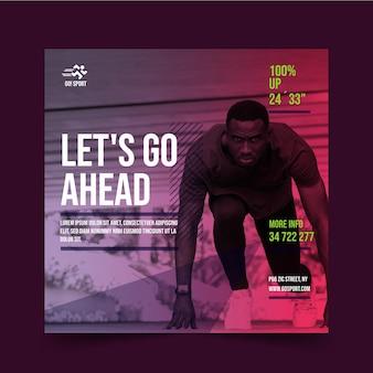 Gradient sport square flyer vorlage