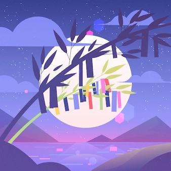 Gradient tanabata illustration