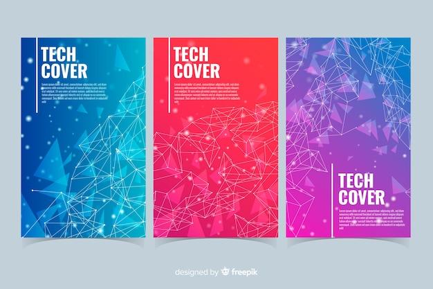 Gradient technologie konzept cover-kollektion