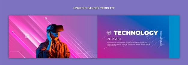 Gradient textur technologie linkedin banner