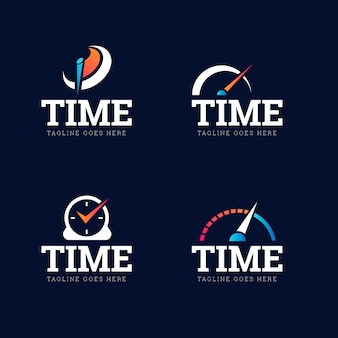 Gradient time logo-sammlung