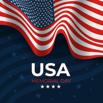 Gradient usa memorial day illustration