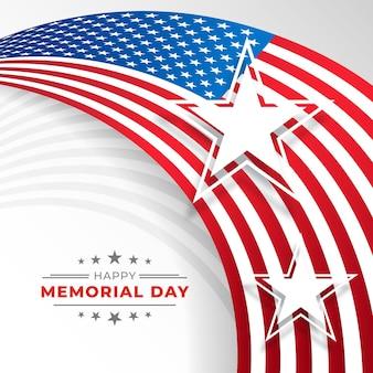 Gradient usa memorial day illustration Kostenlosen Vektoren