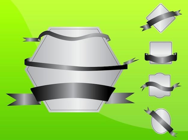 Gradient vector dekorative werbe-etiketten