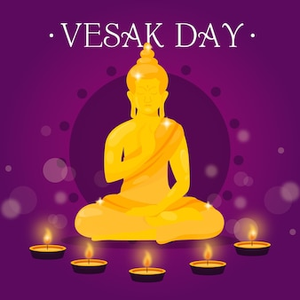 Gradient vesak tag illustration