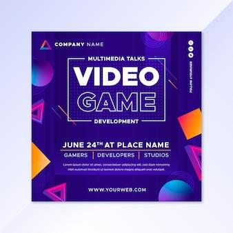 Gradient videospiel flyer vorlage