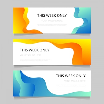Gradient web banners template