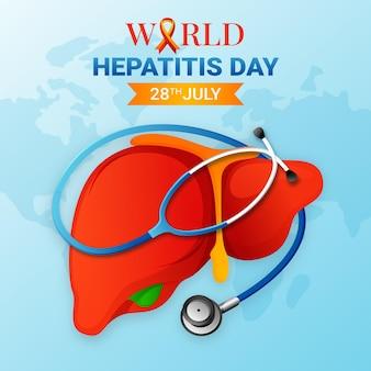 Gradient welt hepatitis tag illustration