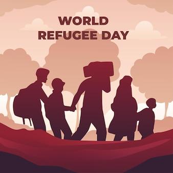 Gradient weltflüchtlingstag illustration