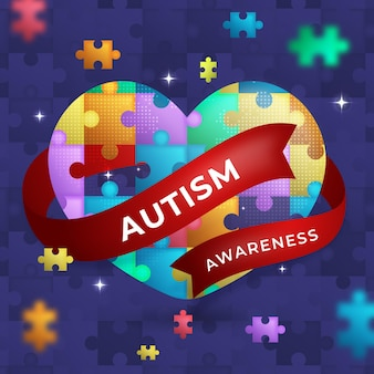 Gradient world autism awareness day illustration
