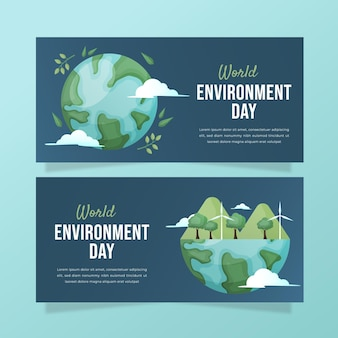 Gradient world environment day banner vorlage