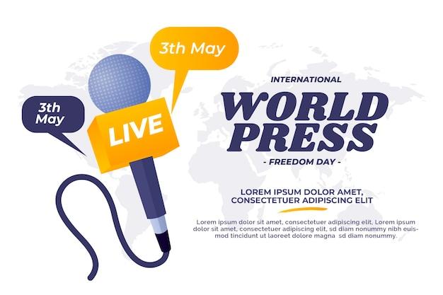 Gradient world press freedom day illustration