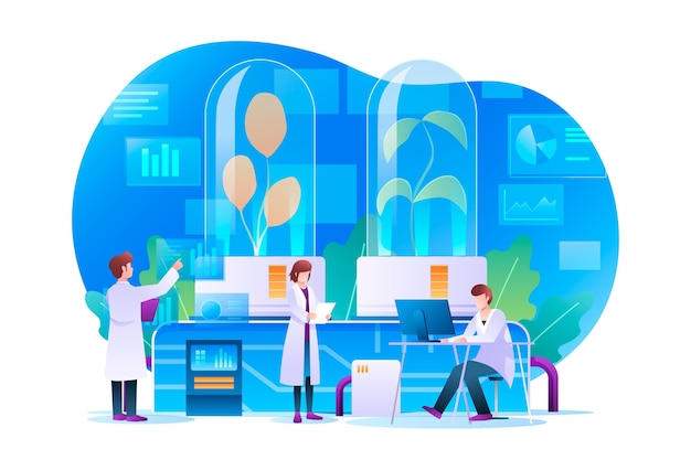 Gradienten-biotechnologie-konzept