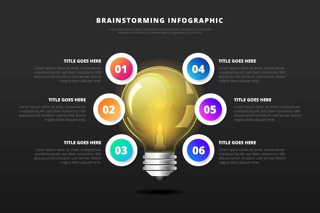 Gradienten-brainstorming-infografiken